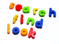 search find look