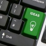 """A computer keyboard with a """"ideas"""" button instead of enter button"""